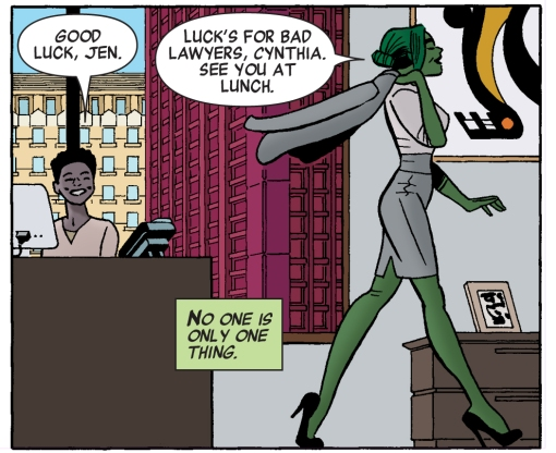 Panel from She-Hulk #1.